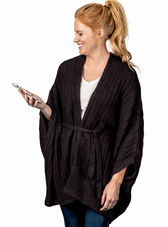 Emma Alpaca Wool & Cotton Blend Cardigan Style Vest with Tie Front