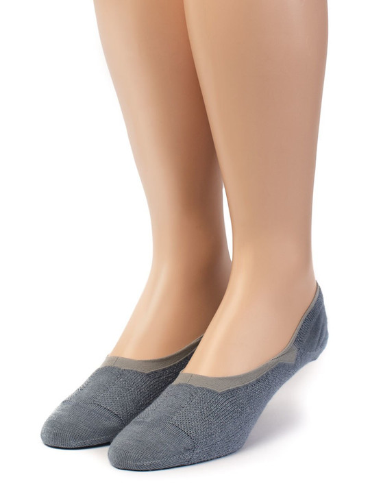 No-Show Ghost 4-Season Socks with 100% Alpaca Wool and Bamboo Front View