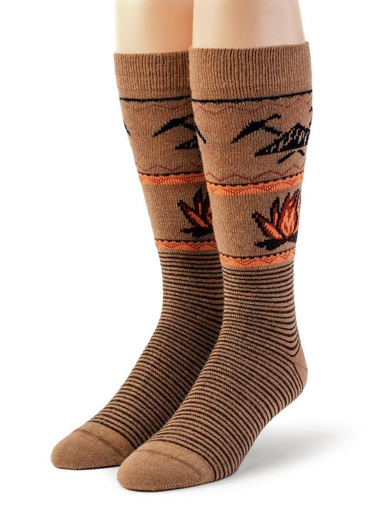 Cozy Campfire 100% Alpaca Wool Socks - Unisex Front View