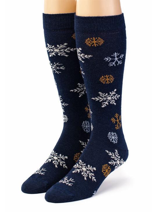 Winter's Special Snowflake 100% Alpaca Wool Socks Front View