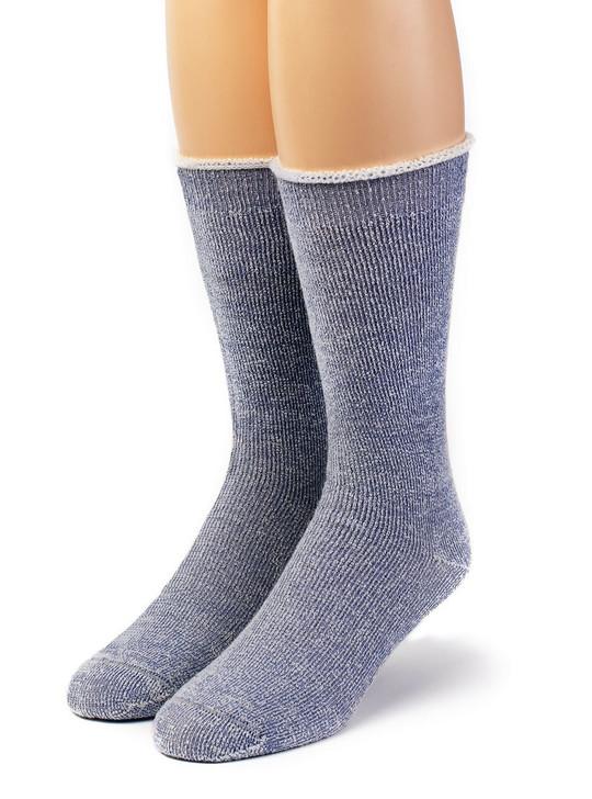 Koze Kick Back 100% Alpaca Wool Socks - Terry Lined Front View