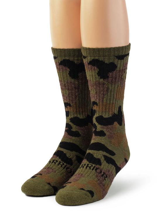 Sylvan Camouflage 100% Alpaca Wool Hunting Socks - Unisex Front View