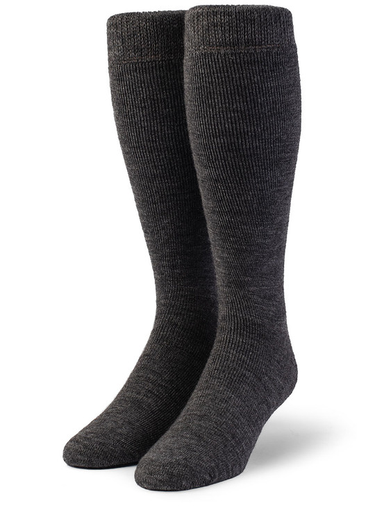Outdoor Over-the-Calf 100% Alpaca Wool Socks - Terry Lined - Unisex Front View