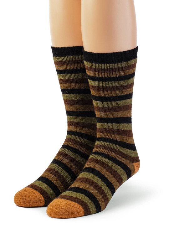 Lifesaver Alpaca Wool Socks - Multi Colored Terry Lined Crew Outdoor Socks - Main Thumbnail