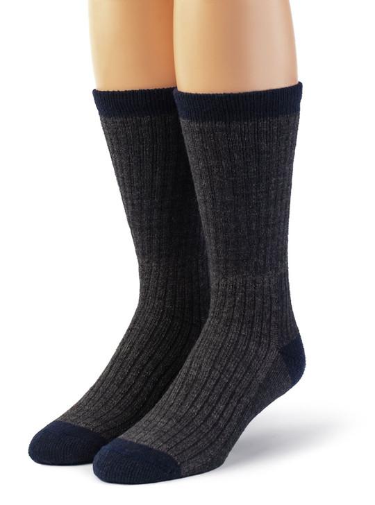 Warrior 100% Alpaca Wool Compression Work Socks  - Unisex Front View