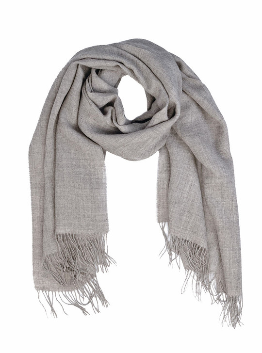 Intuitive 100% Baby Alpaca Wool Eco Oversized Scarf & Shawl -Dye-Free / Organic  Looped