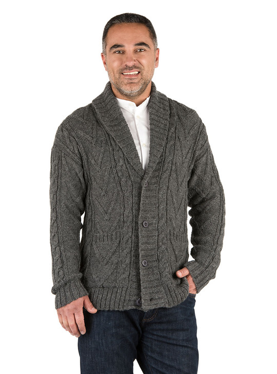 Cecil Chunky Knit Button Front Alpaca Wool Cardigan On Model - Front