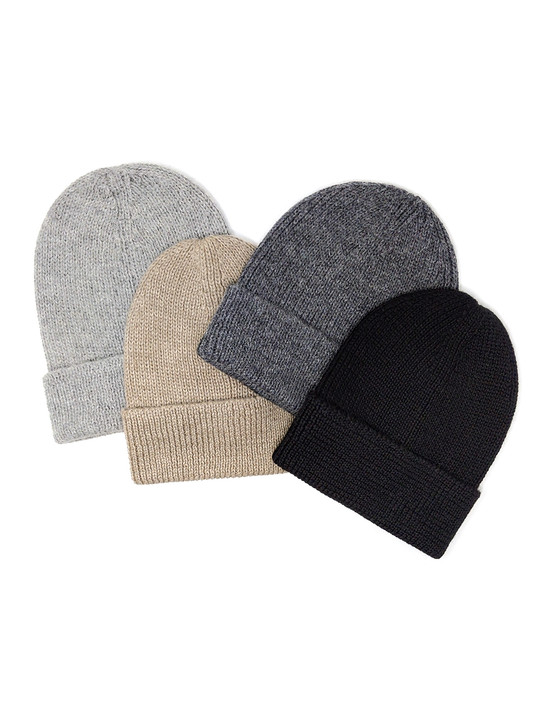 The Baby Alpaca Beanie - Assorted Natural Colors