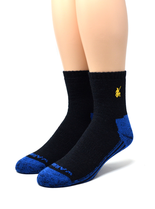 High Performance Quarter Crew Athletic Sox by Warrior Alpaca Socks Front / Toe