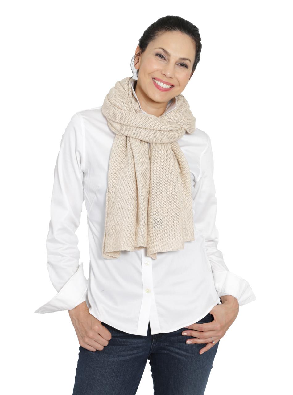 Emery Baby Alpaca & Silk Scarf / Shawl Oversized scarf at neck