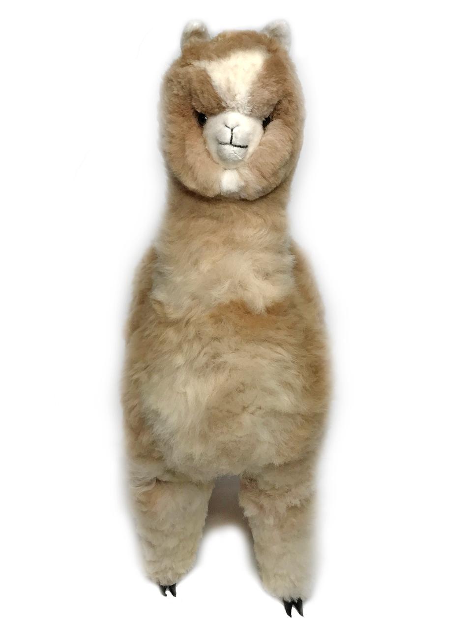 "Life-Size Alpaca Stuffed Figure 36"" Front"