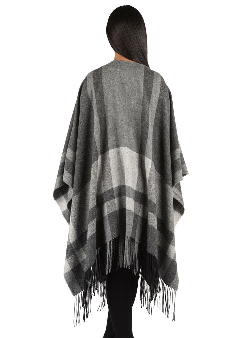 Talk of the Town Baby Alpaca Blanket Shawl & Travel Wrap  Model Back