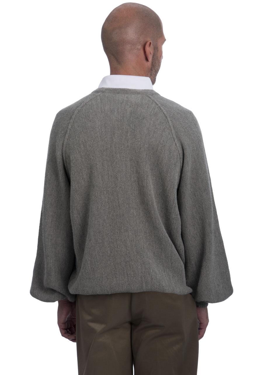 Alpaca V Neck Pullover 1960's Style - Back
