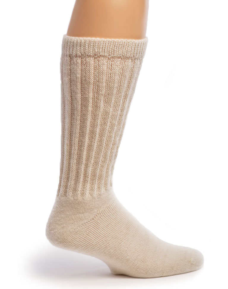 Therapeutic Terry Lined Alpaca Socks Side