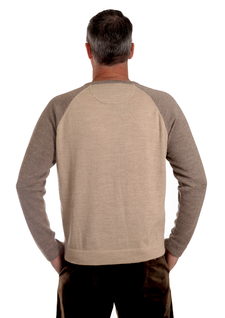 Men's Baseball Pullover Sweater On Model - Back
