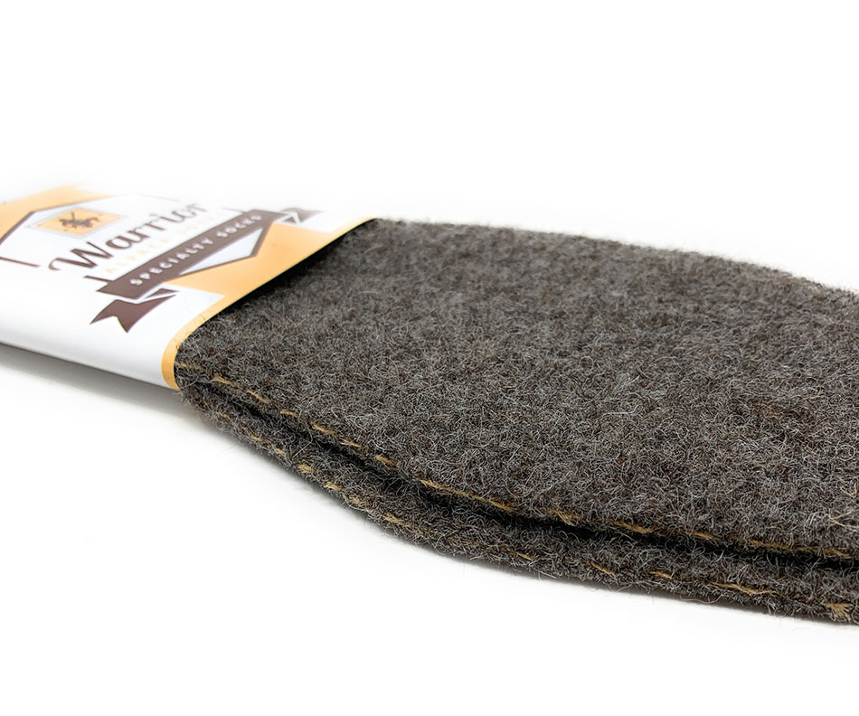 Men's & Women's 100% Alpaca Felt Insoles  5 layer construction
