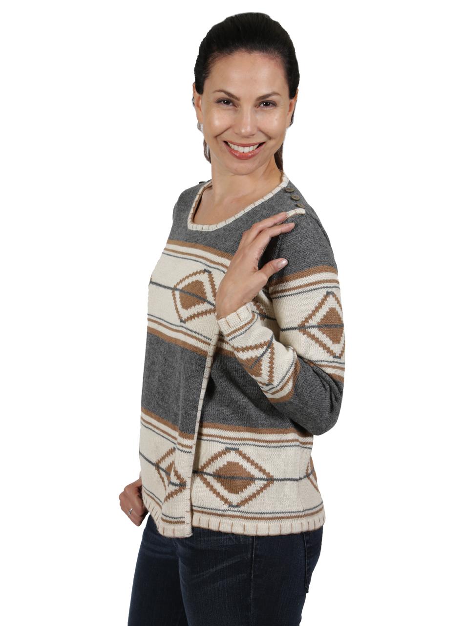 Tribal Style Aztec Blanket Pullover Back