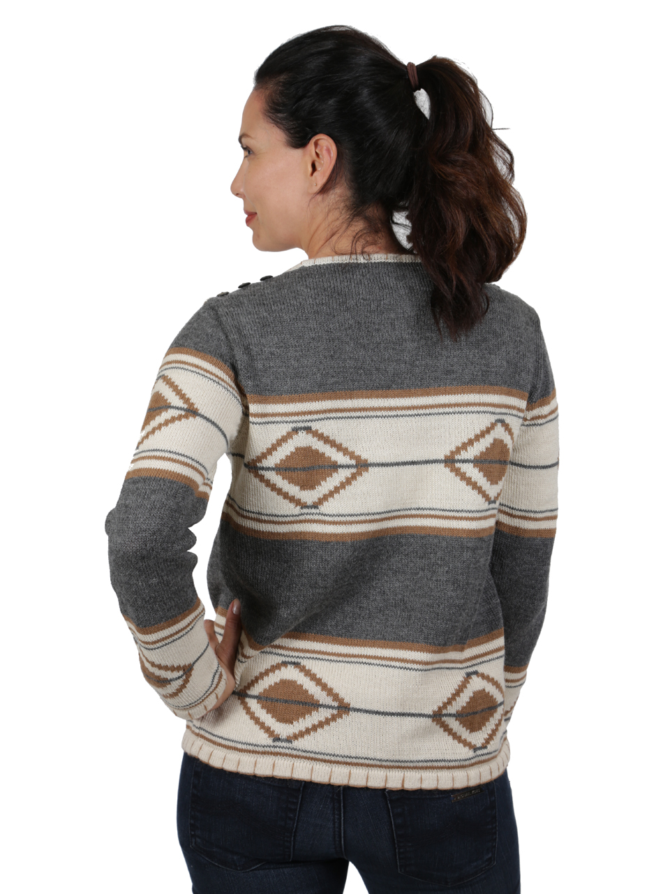 Tribal Style Aztec Blanket Pullover Side