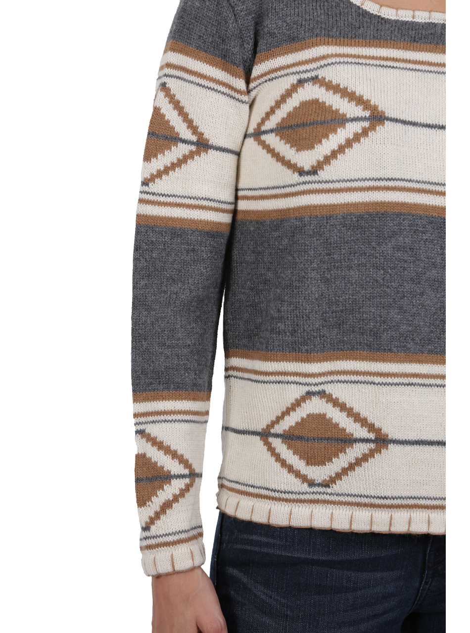 Tribal Style Aztec Blanket Pullover Detail