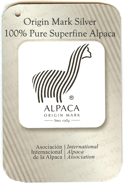 100% Pure Alpaca Origin Mark Guaranteed