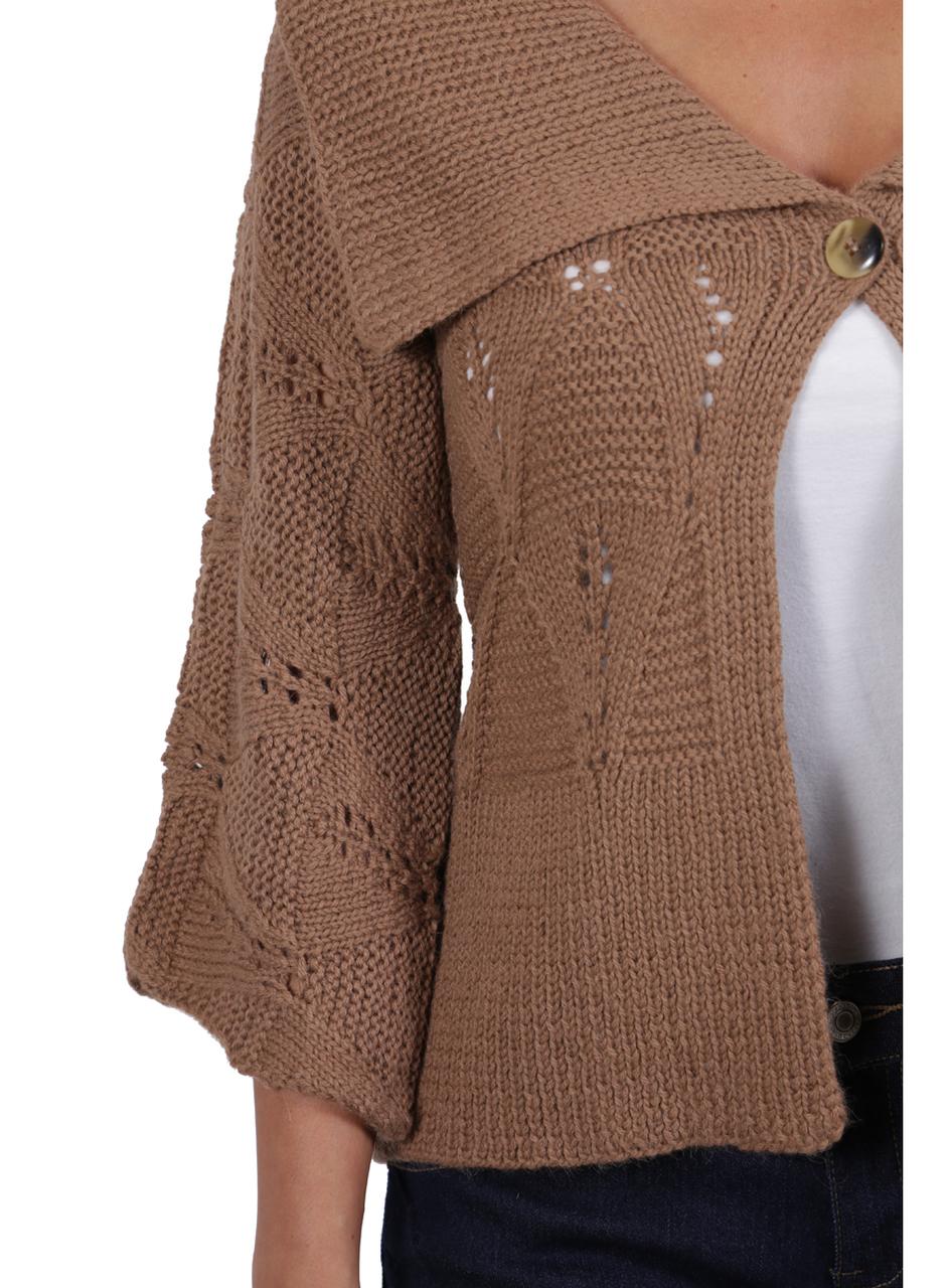 Hand Knit Victoria Cardigan Detail