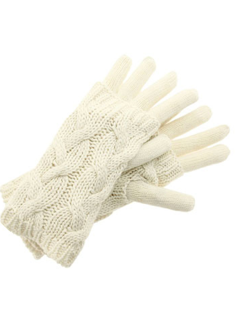 Alpaca Cable Cozy Duo Gloves and Texting Glove Cream