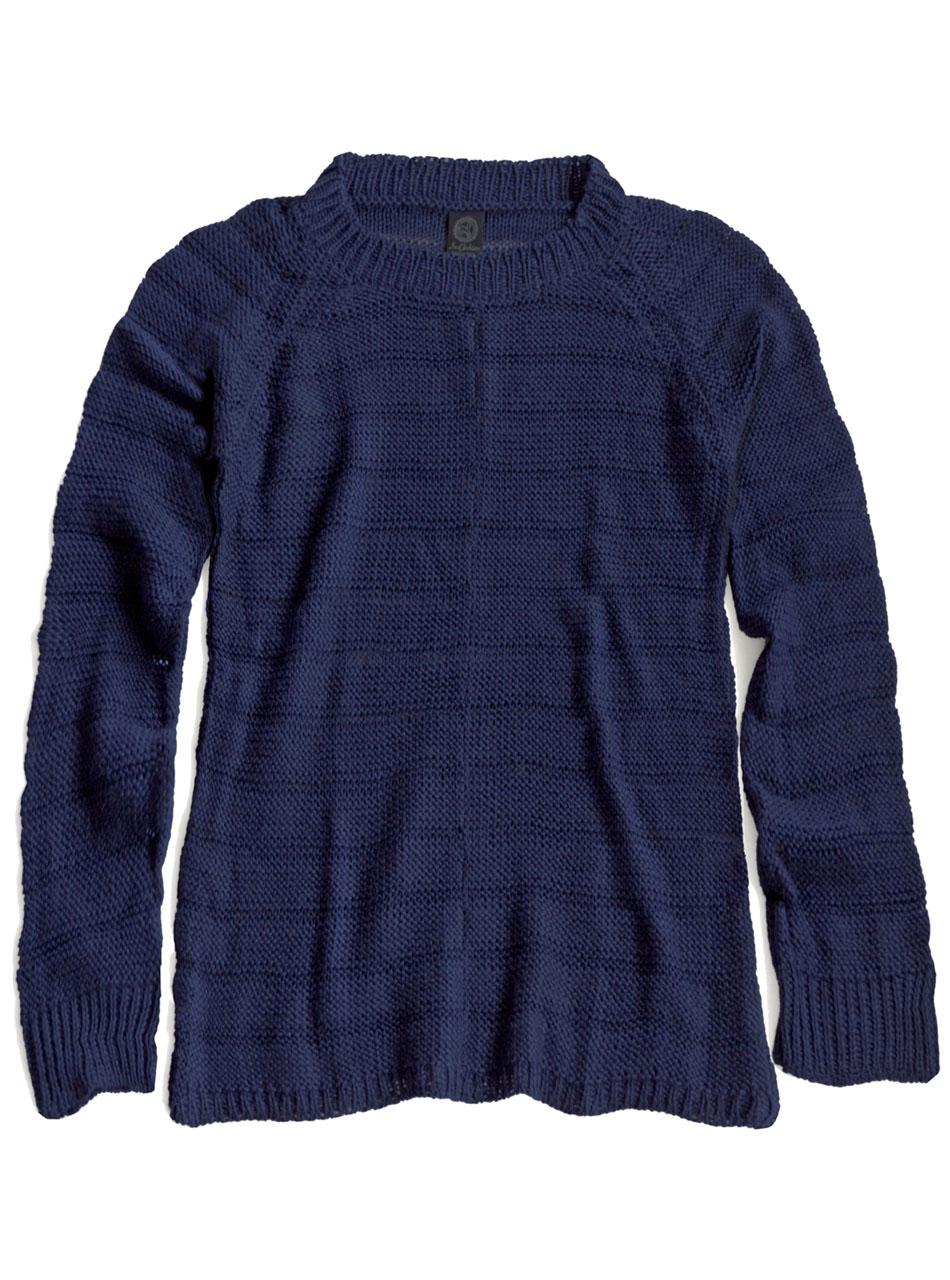 Heavenly Alpaca Sweater  Navy Flat
