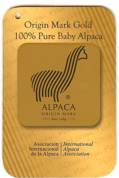 100% Pure Baby Alpaca yarn Certified by the IAA