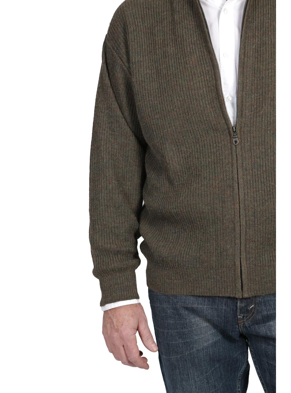 21st Century Zip Alpaca Cardigan Front Details