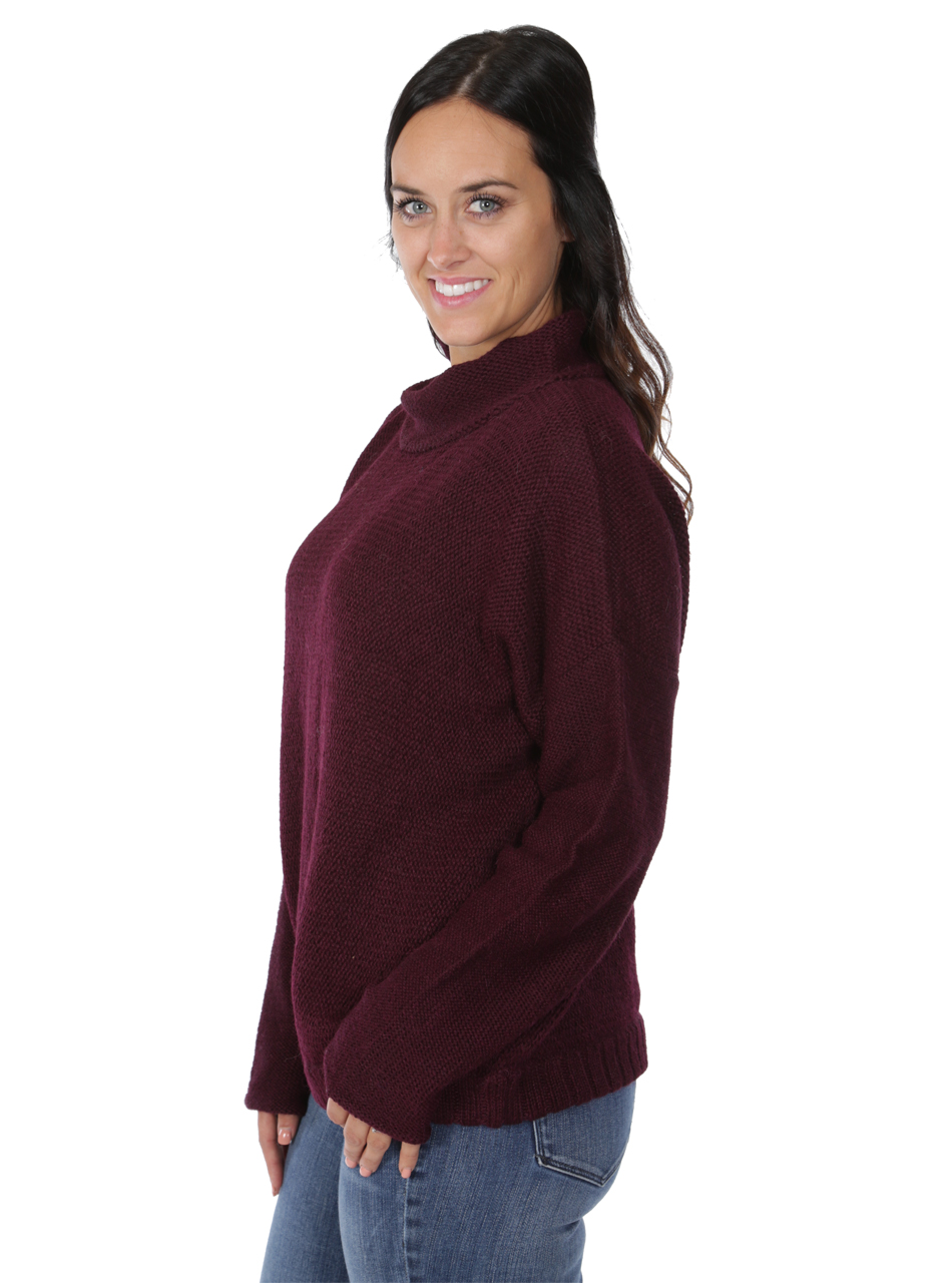 Women's Oversized Drop Shoulder Dream Sweater Side