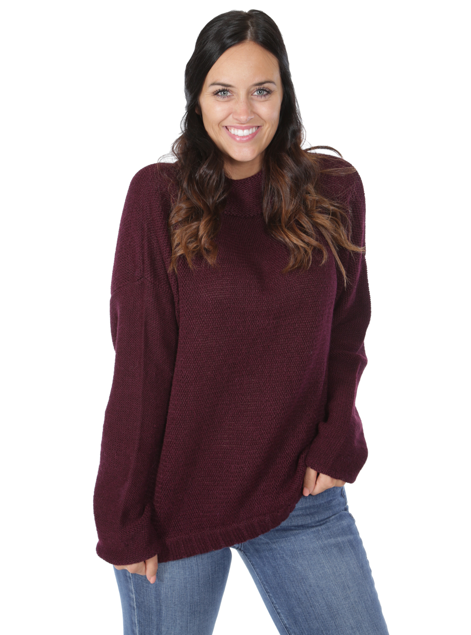 Women's Oversized Drop Shoulder Dream Sweater Alternate Pose