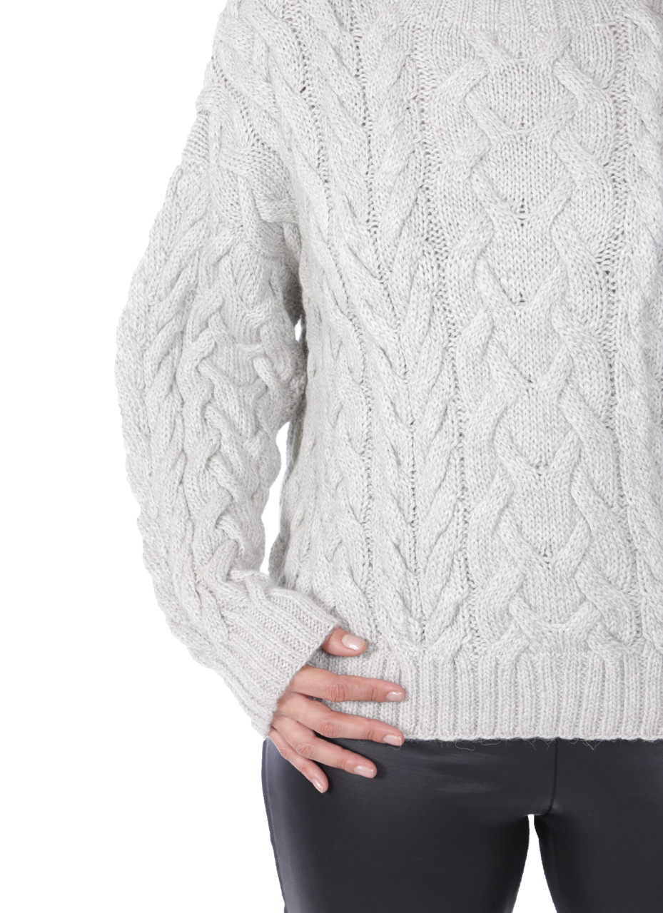 Alexa Cable Pullover Sweater  Detail