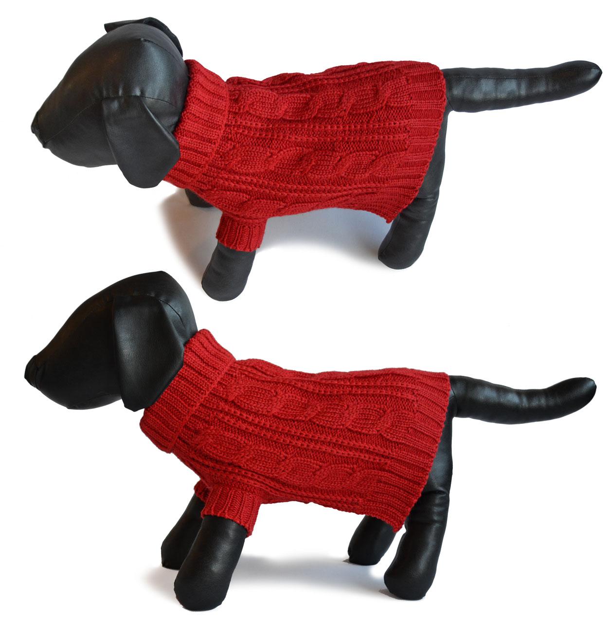Cable Turtle Neck Dog Sweater & Oversized Scarf Set