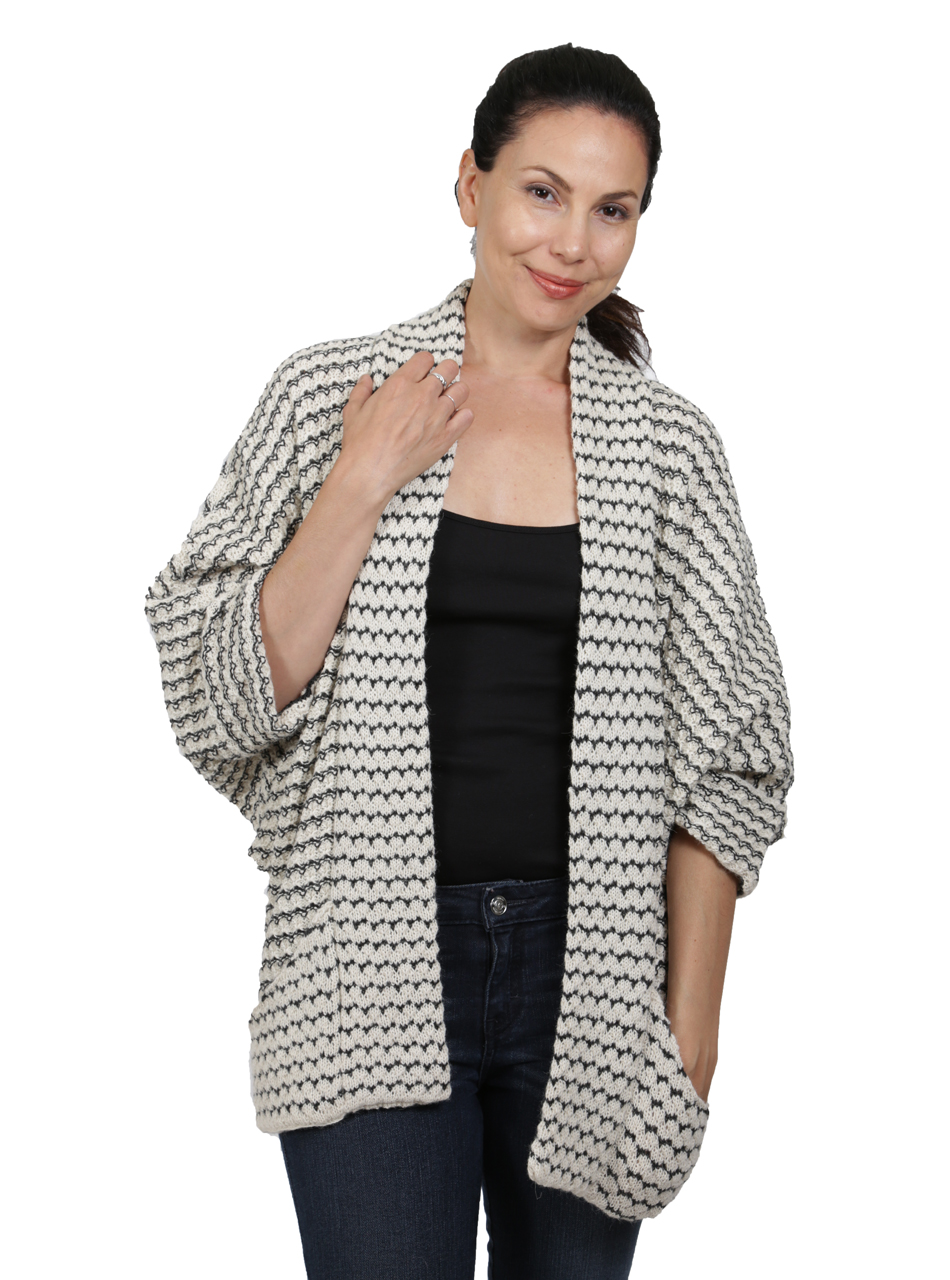 Joanna Baby Alpaca Cardigan Alternate Sleeve