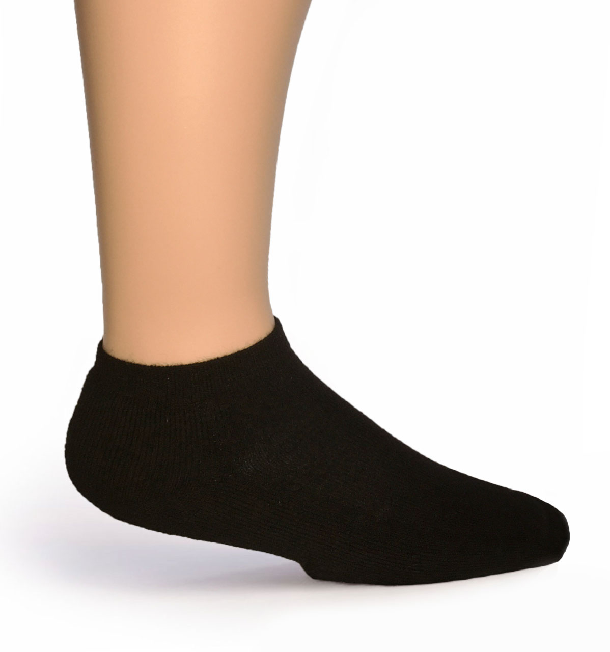 Quarter No Show Socks - Ankle High Alpaca Socks Side