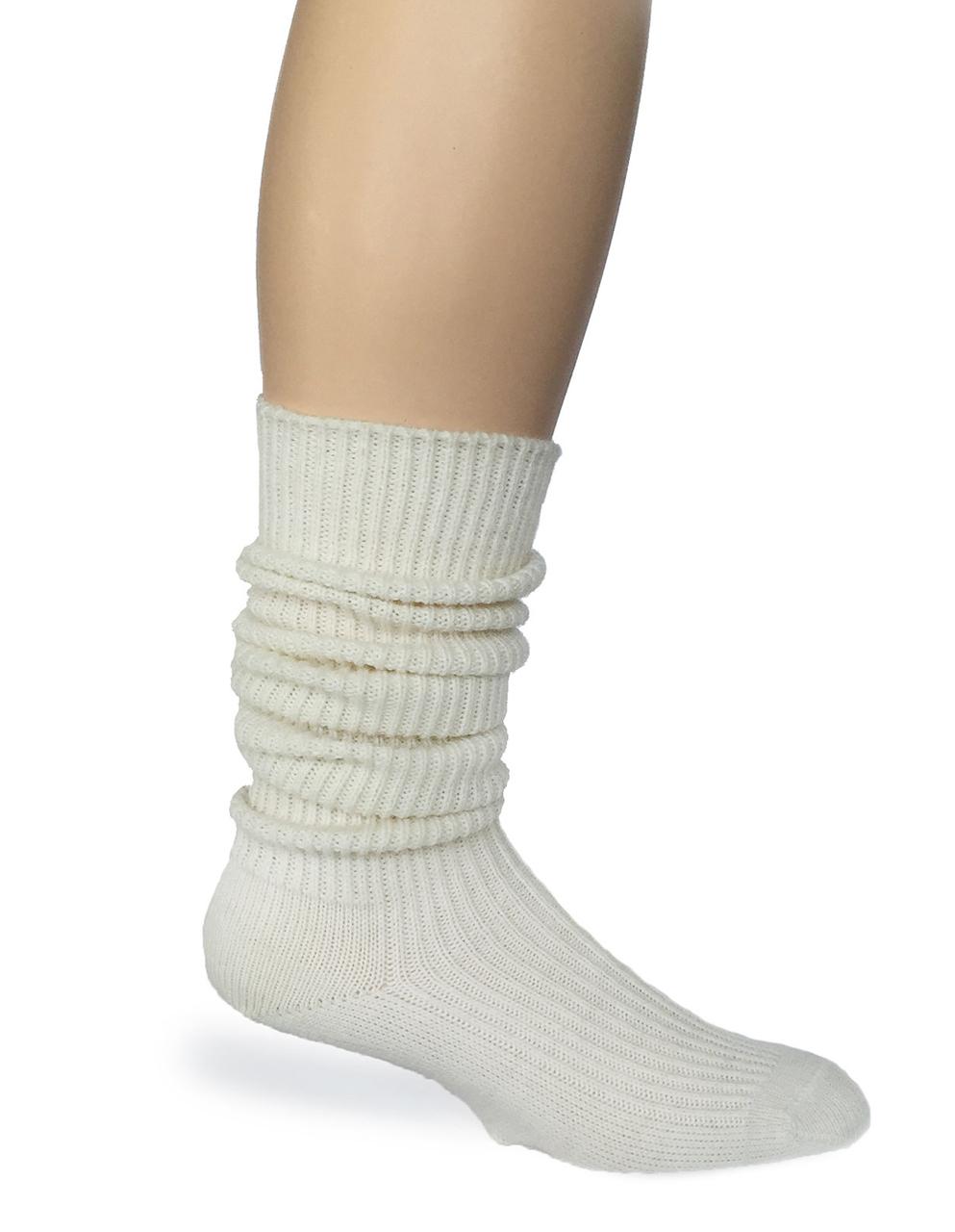 Old Fashioned Tender Tube Socks Side - Scrunched