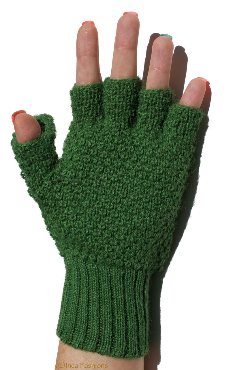 Alpaca Wool Pop-Top Glittens On hand palm