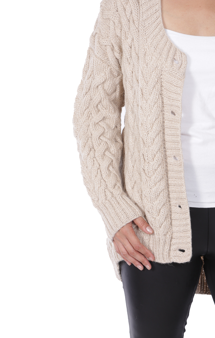 Alexa Cable Cardigan Detail