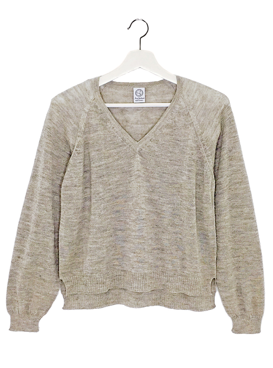 Beach V Cropped Pullover  Front - Hanging