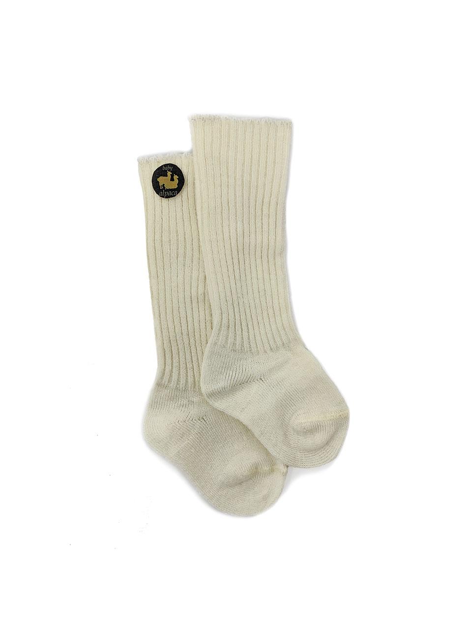 Baby Alpaca Dye-Free Baby Socks Flat