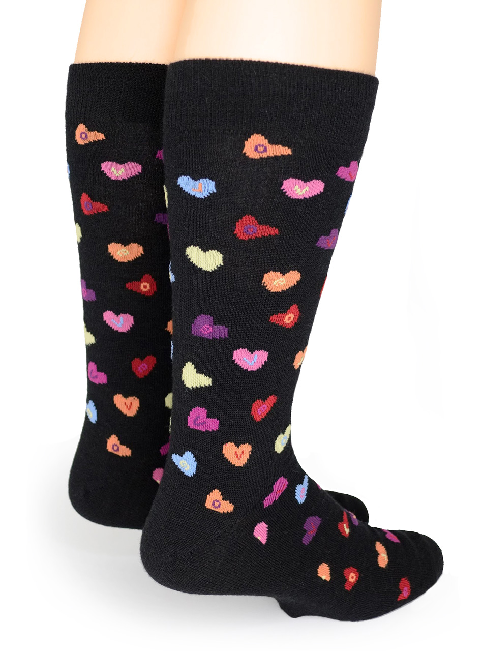 Candy Heart LOVE - Alpaca Socks Back