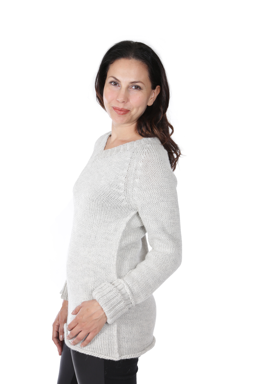 Knightley V-Neck Sweater Side-view on Model