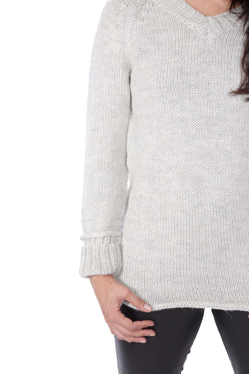 Knightley V-Neck Sweater Detail