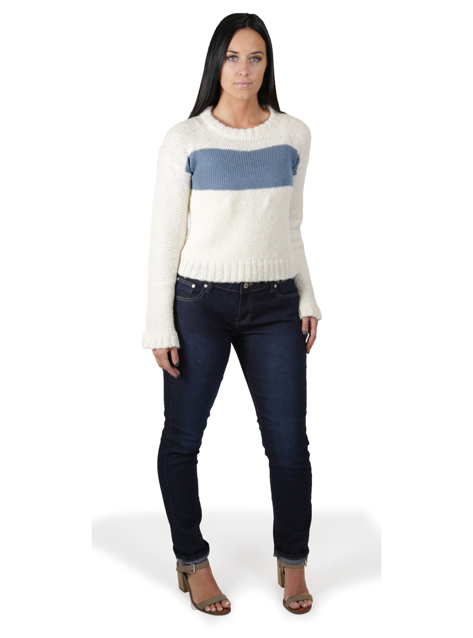 Emmy Striped Alpaca Boucle Pullover Full Size