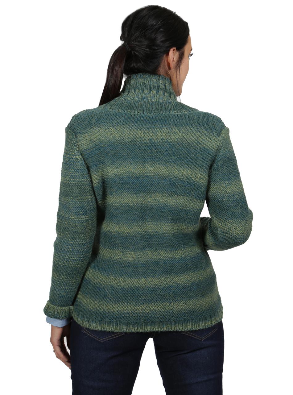 Lattice Knit Alpaca & Wool Cardigan Back