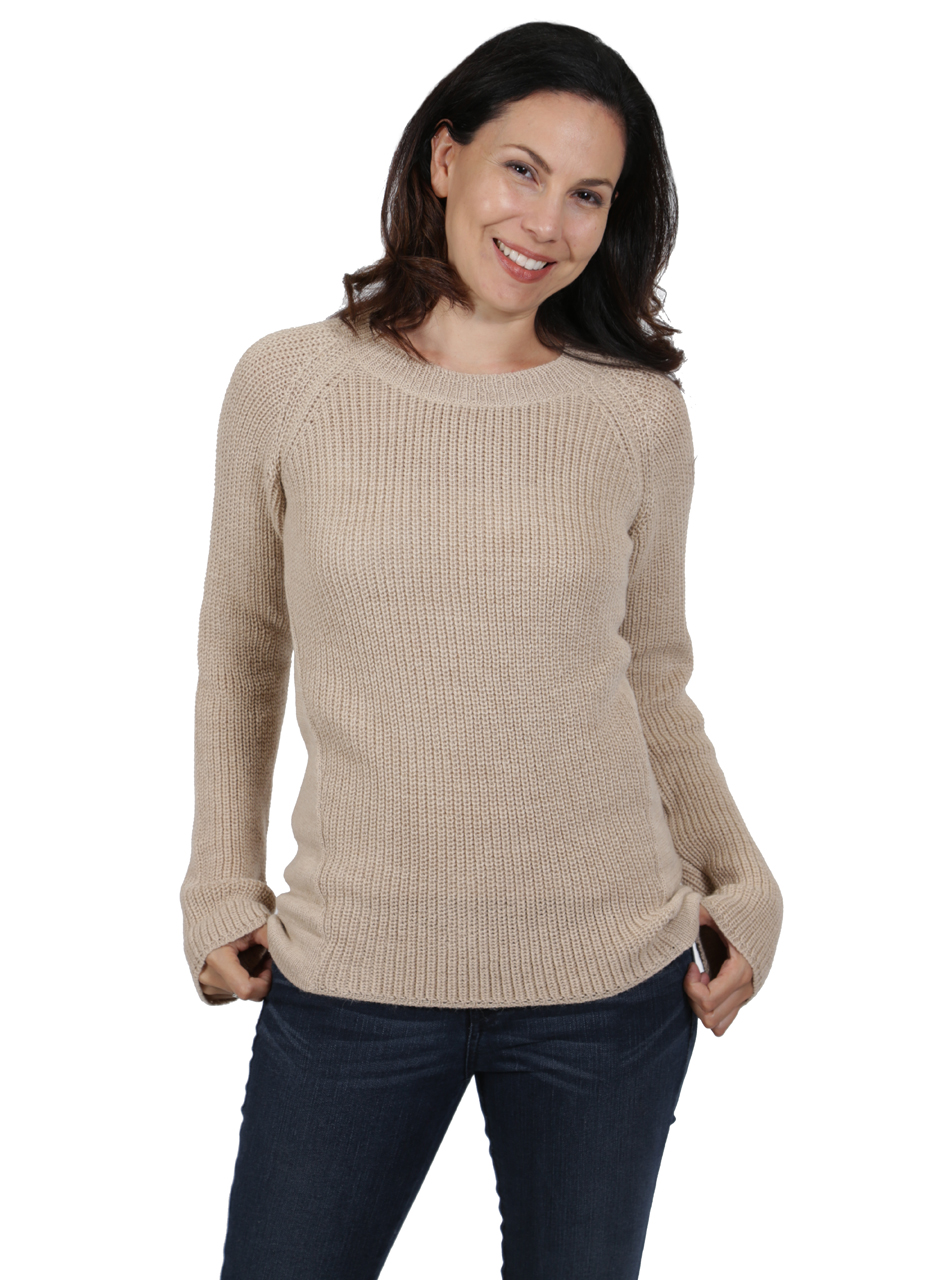 6aafb4a0fa65 Women s Alpaca Sweaters - Melody Pullover Pattern-Blocked Sweater ...
