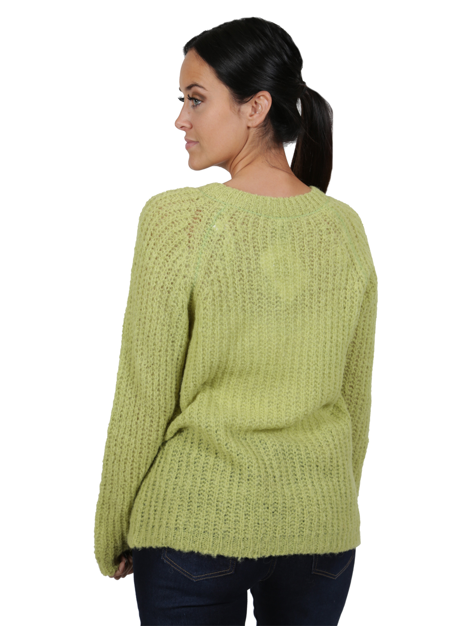 Alpaca Sweater - Cotton Candy Pullover Sweater  Greenery Back