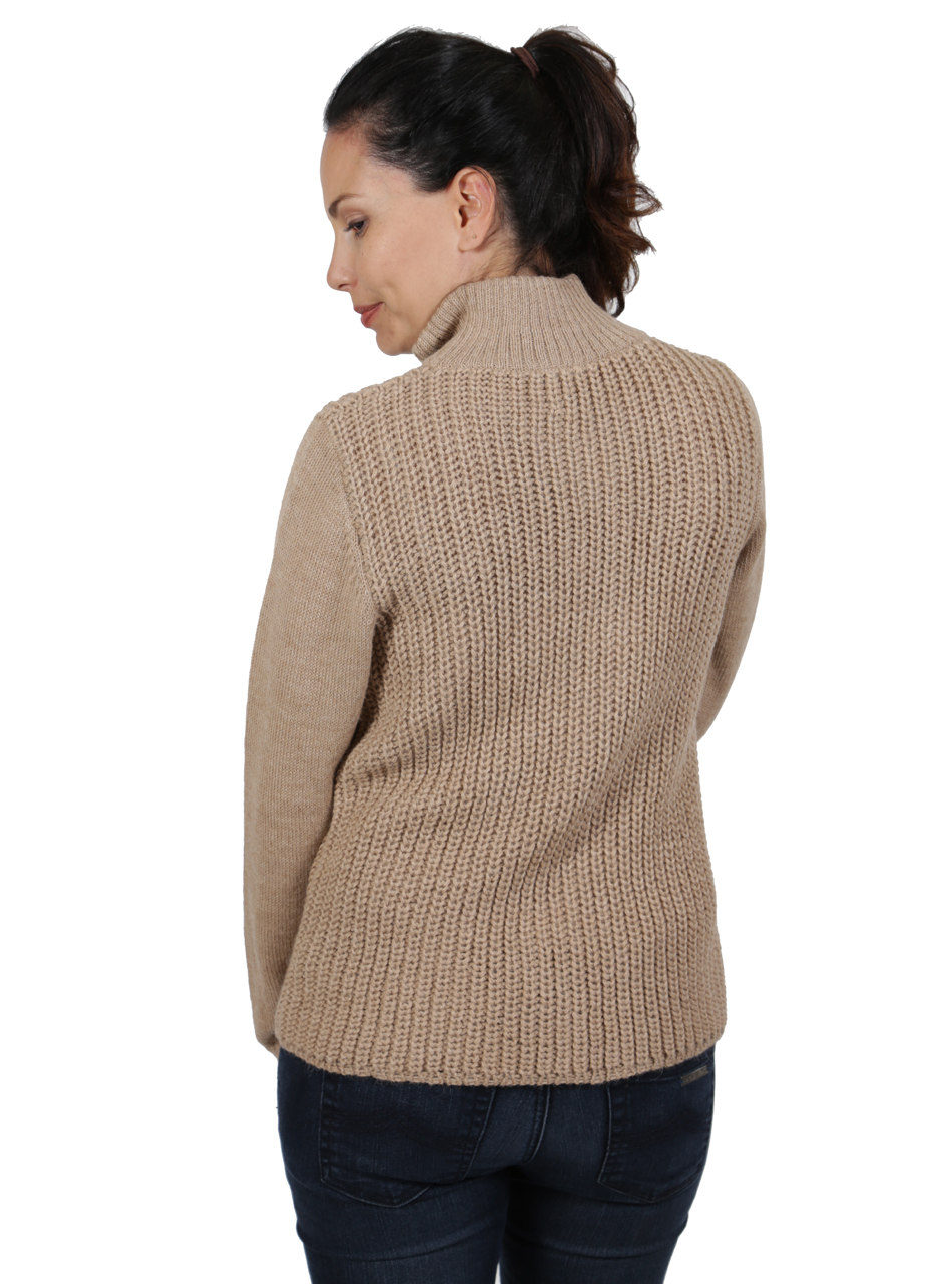 Womens Alpaca Moto Cardigan Jacket Back