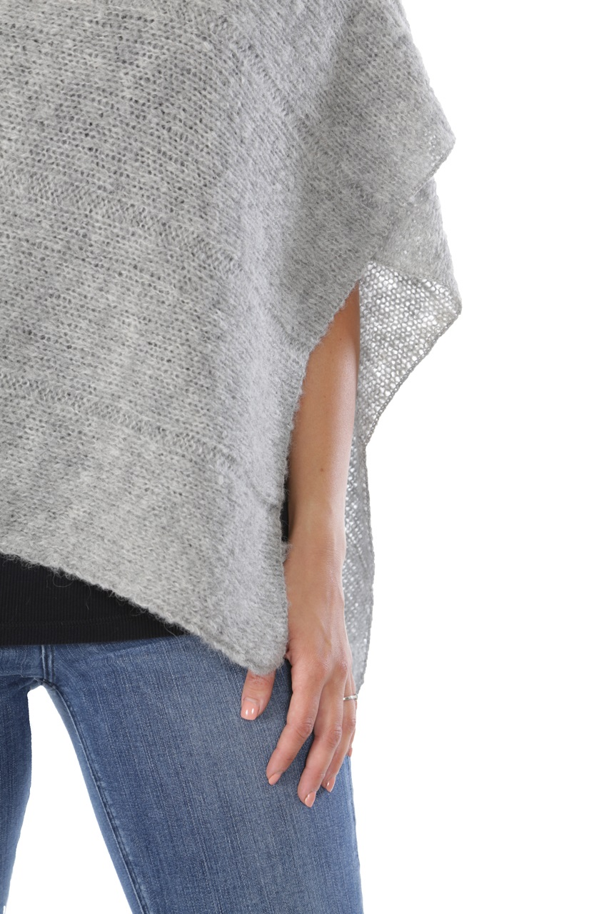 One Button Poncho Detail