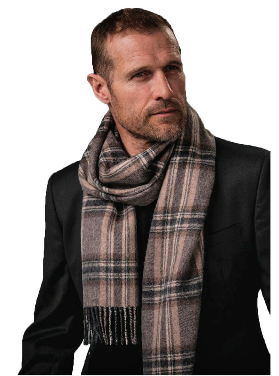 Guinness Plaid Scarf on Model